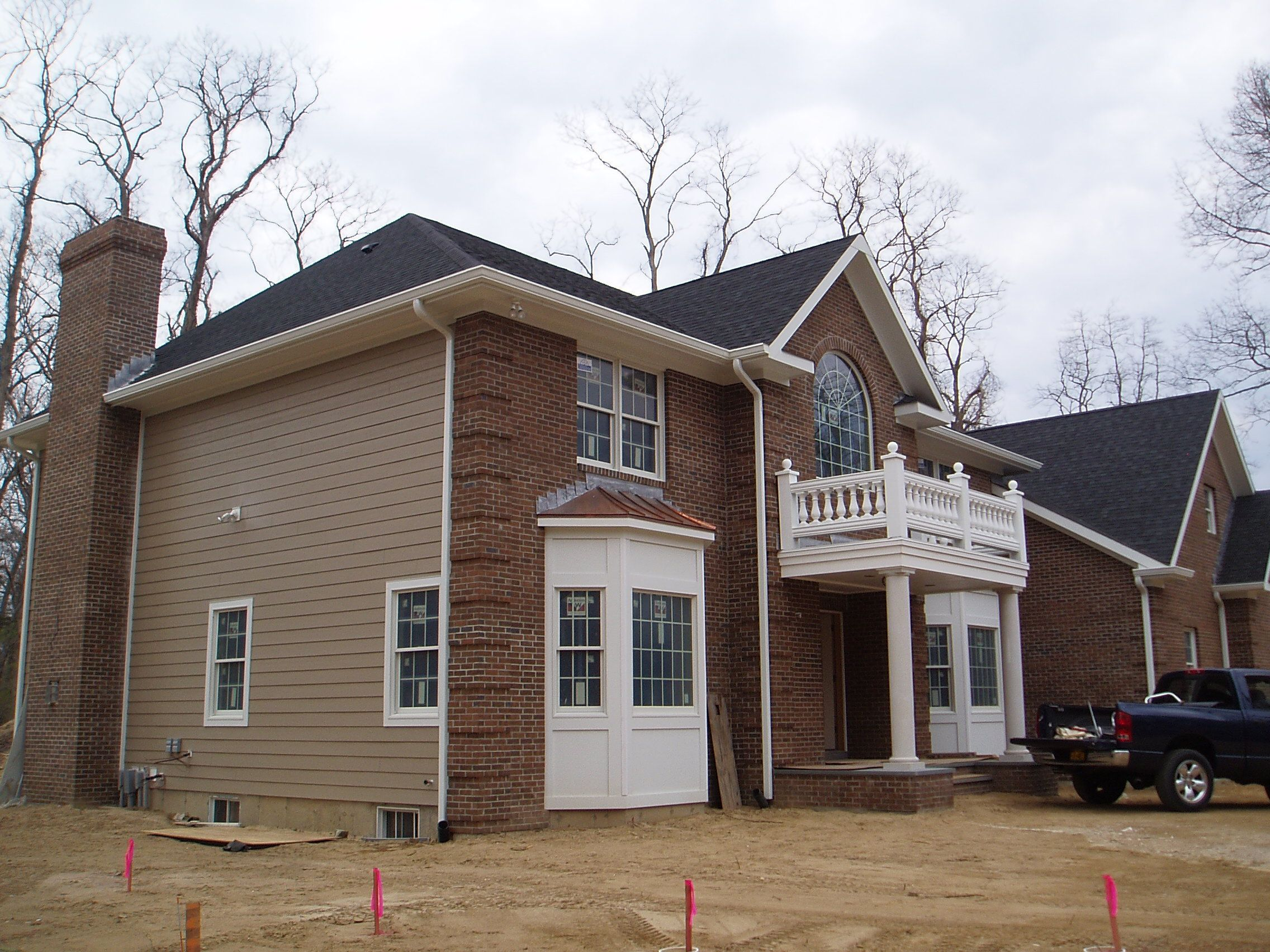 Exterior ideas mesmerizing siding design using brown for Transition windows for homes