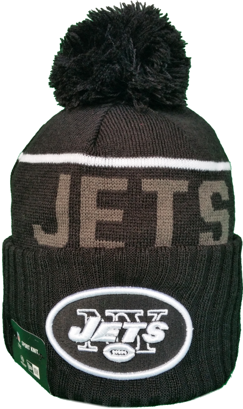 9627a0554 New York Jets Fleece Lined Black Pom Toque. Find this Pin and more on NFL  ...