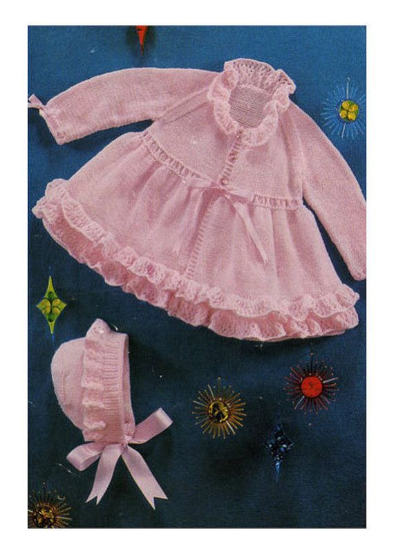 68f062883 Instant PDF Digital Download Vintage Row by Row Knitting for Baby ...