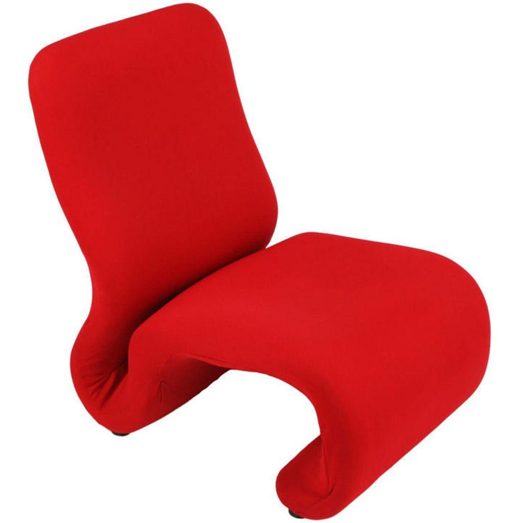 1stdibs swedish modern red wool ribbon chair