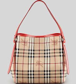 Authentic Burberry Haymarket Check Small Shoulder