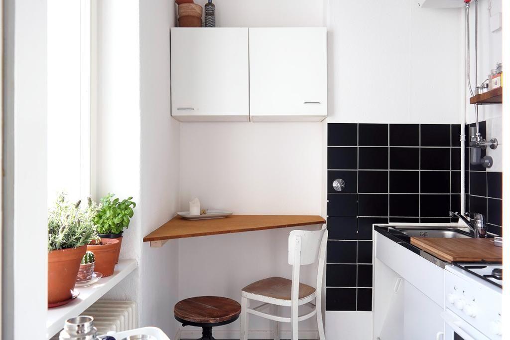 Schöne Idee für kleine Küchen: die Ecke unter einem ...