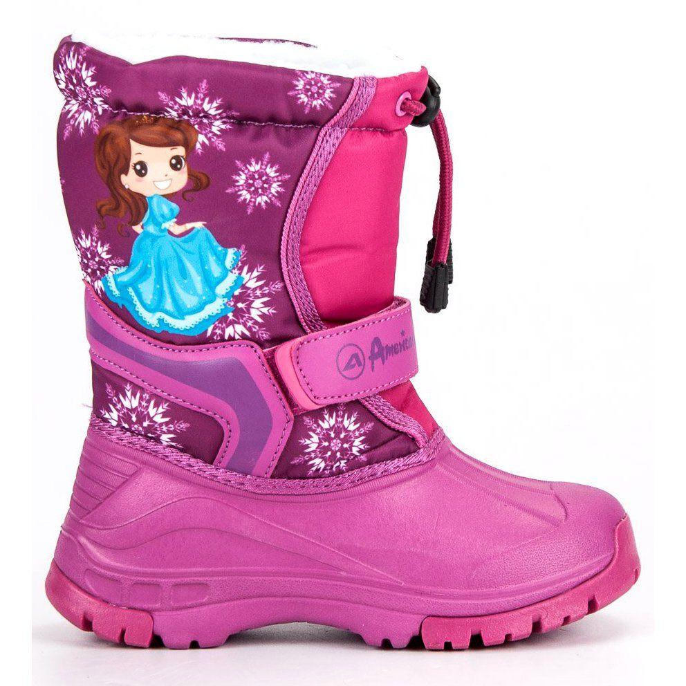 Kalosze Dla Dzieci Americanclub American Club Rozowe Cieple Kalosze American Boots Winter Boot Shoes