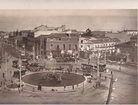 Glorieta de cuatro caminos a principios del siglo XX.
