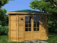 l abri en rondin de bois monaco convient pour tous les jardins il offre un lieu de d tente. Black Bedroom Furniture Sets. Home Design Ideas