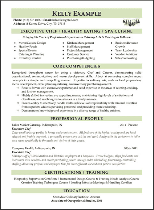 Resume Samples Types Of Resume Formats Examples Templates Chef Resume Professional Resume Writing Service Resume Writing Services