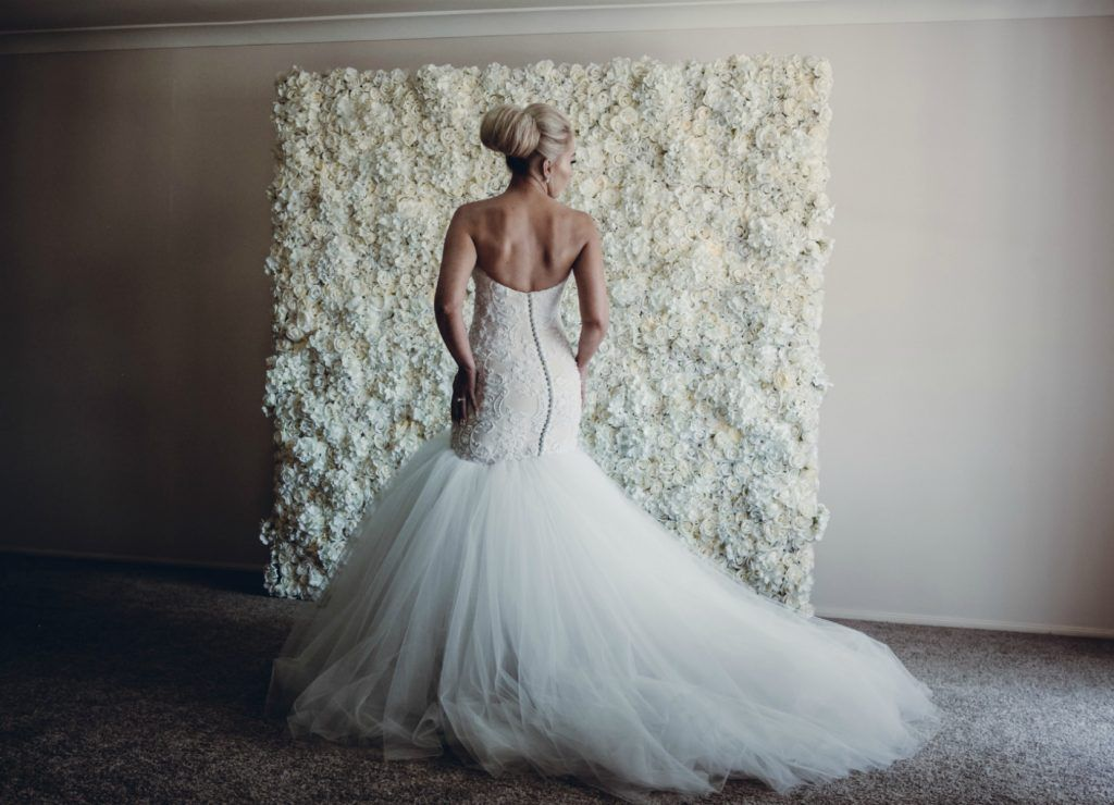 Personalised Wedding Gown in a Glamorous all white Wedding. Become ...