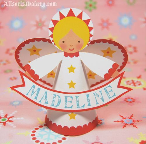 Freebie Paper Angel Printable And Other Craft Ideas And Templates