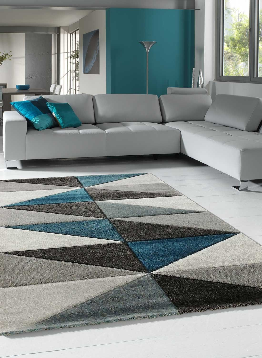 Valag Salon Moderne Gris Decoration Salon Appartement Tapis Salon Gris