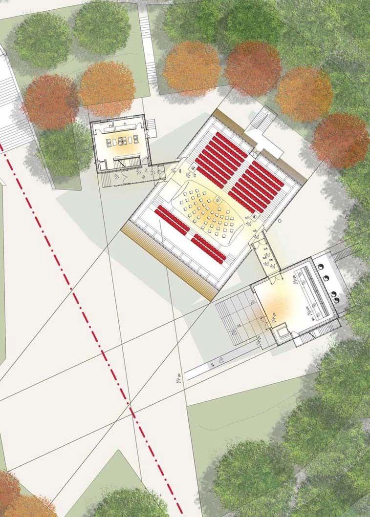 """Renzo Piano Projeta um Auditório """"para montar"""" para L'Aquila"""