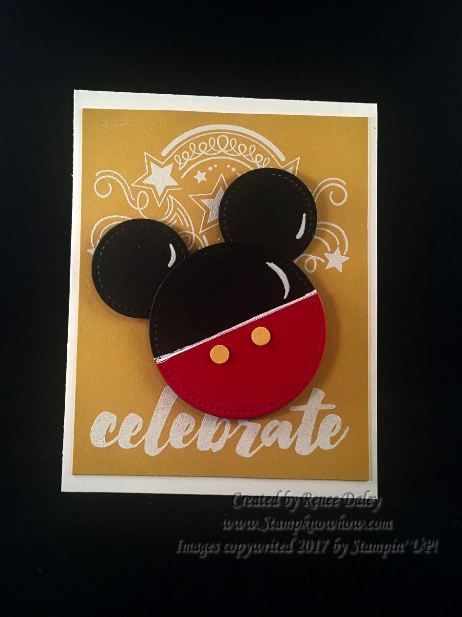 Punch Art Mickey Symbol On Birthday Blast Background Punchart
