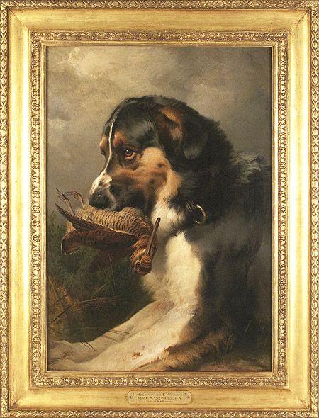 Sir Edwin Landseer English 1802 1873 Retriever With Woodcock