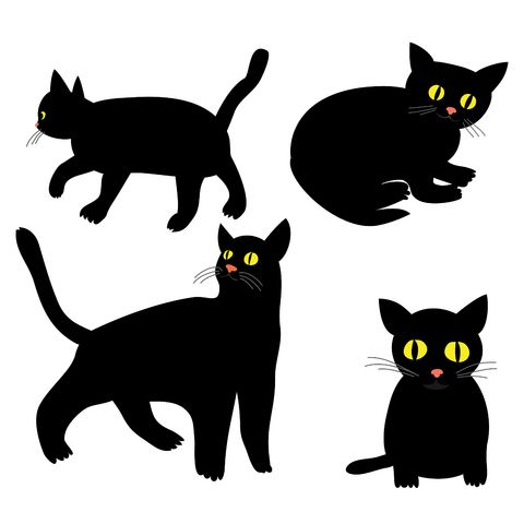 Black Cat Tattoo Flash
