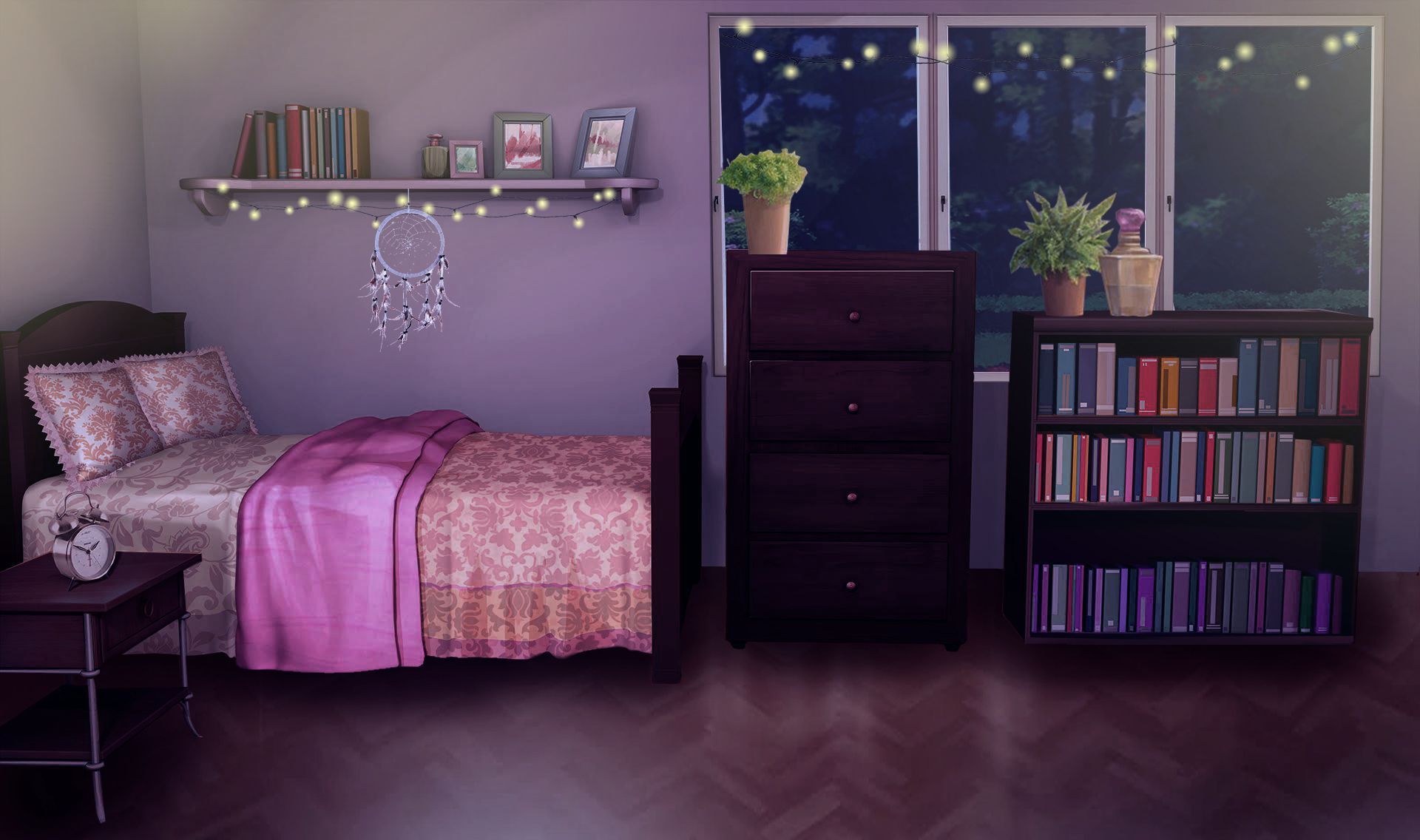 Anime Bedroom Background Night Anime Bedroom Background Living Room Background Bedroom Designs Images Anime Backgrounds Wallpapers Bedroom night time background