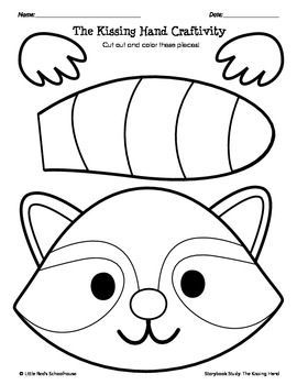 the kissing hand printable template - Kissing Hand Coloring Pages