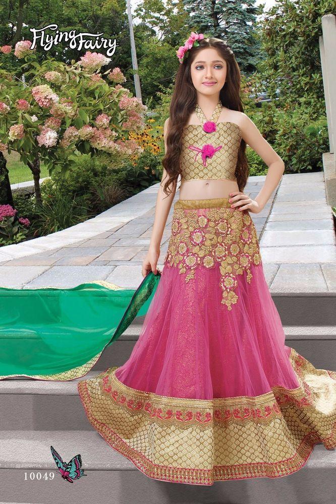 9f75acb5a2 Indian kids girls lehenga Pakistani designer bollywood wedding wear lengha  choli…