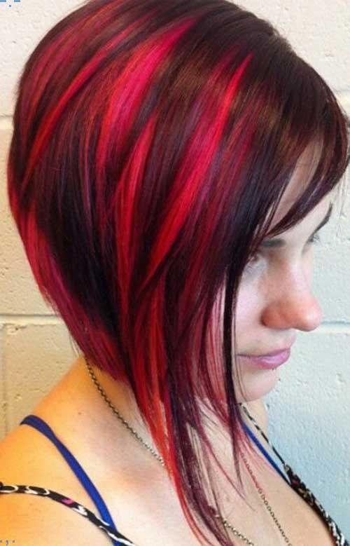15 Verschiedene Rot Farbige Bob Frisur Ideen Fur Frauen Frisur In