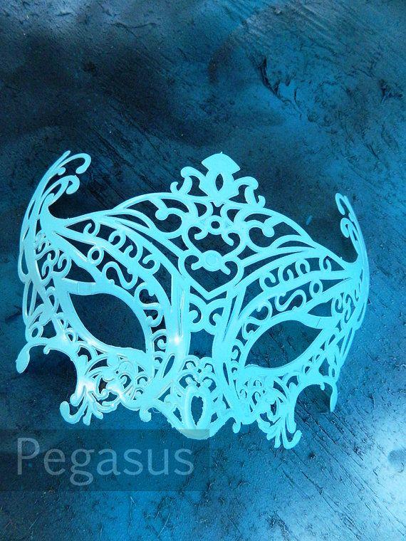 Masquerade Mask base (1 Mask) Robin BLUE DIY Ballroom masquerade - sweet 16 halloween party ideas