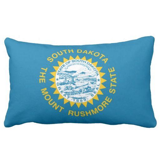 State Flag Of South Dakota Usa Pillows Decorative Throw Pillows Custom Throw Pillow