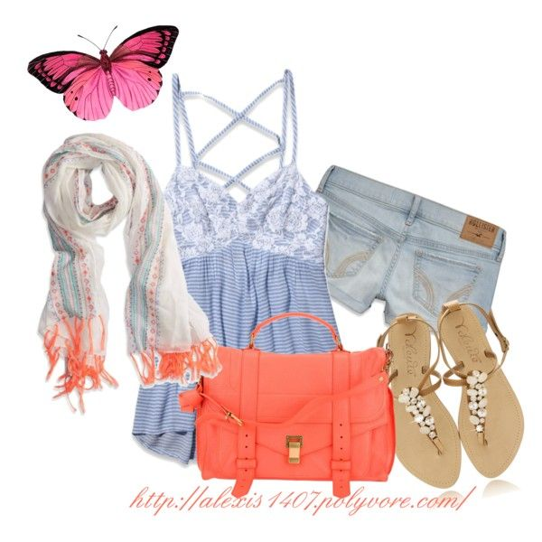 """""""Summer Casual Look"""" by alexis1407 on Polyvore"""