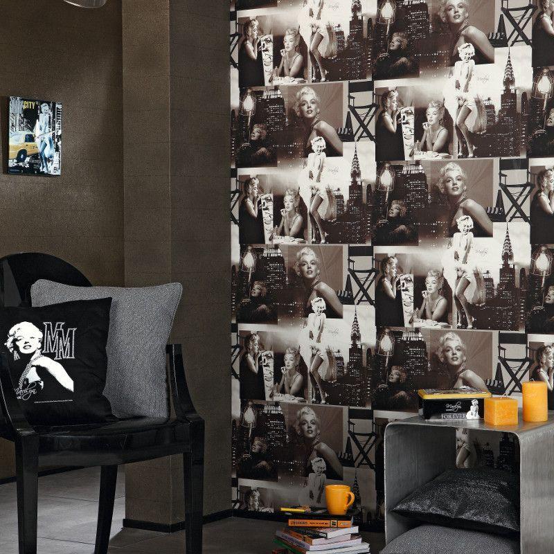 Galerie Marilyn Monroe Black and White Wallpaper http