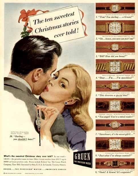 1946 gruen watch ad strickland vintage watches vintage. Black Bedroom Furniture Sets. Home Design Ideas