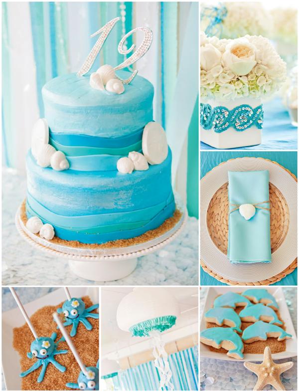 An Elegant Blue Under The Sea Party Mermaid Mermaid parties and