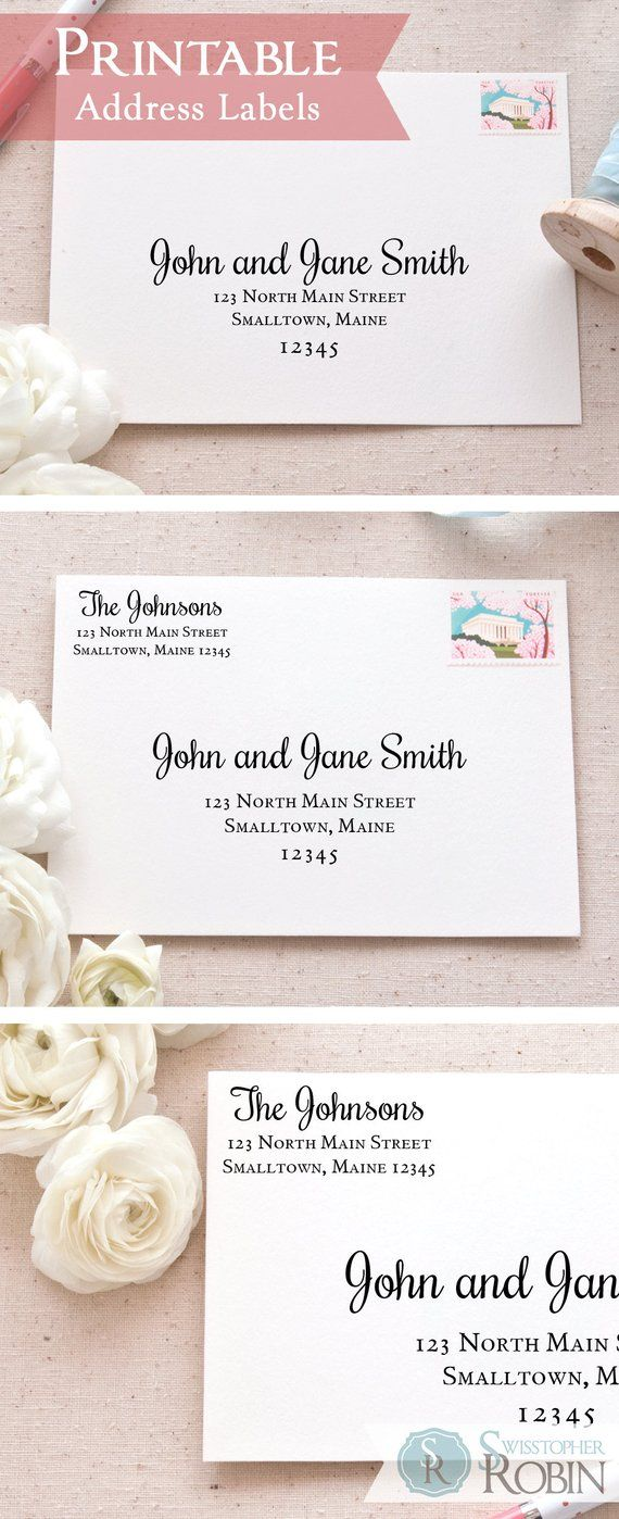 Classic Calligraphy Address Label Bundle