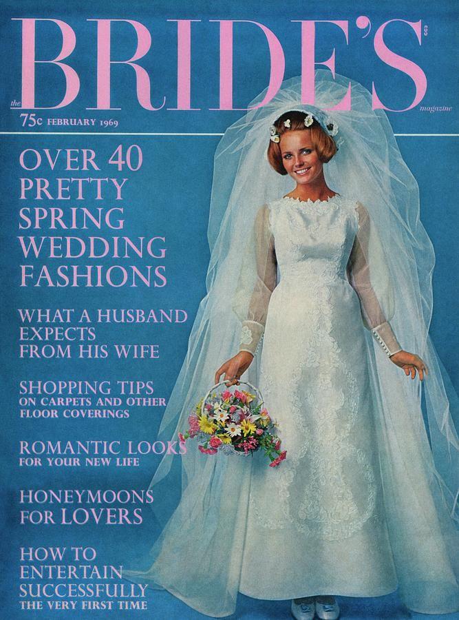 Cheryl Tiegs Wearing A Wedding Dress By Edythe Canvas Print / Canvas ...