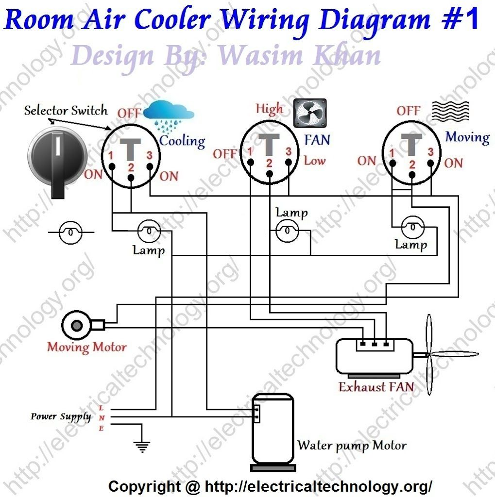 Room Air Cooler Wiring Diagram 1