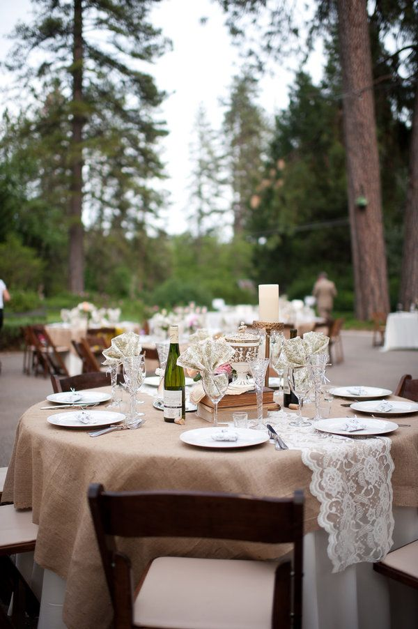 grass valley wedding by acres of hope photography | burlap, lace