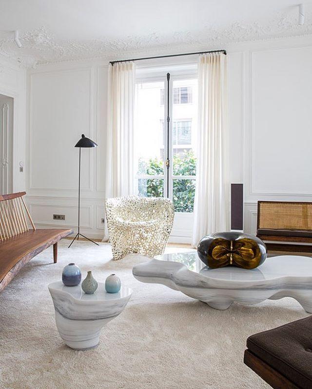 Captivating Bodenlampe, George Nakashima, Wohnungen In Paris, Modernismus, Modernes  Design, Wohnzimmer, Vorhänge, Wohnräume, Mein Haus Pictures Gallery