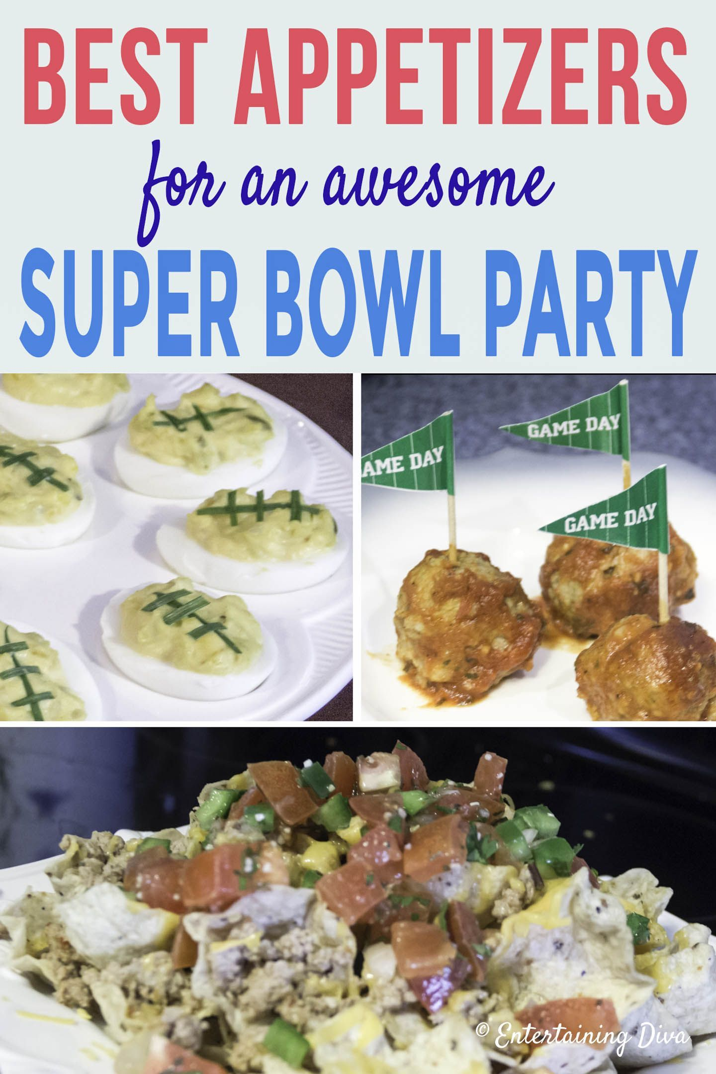 Super Bowl Party Menu Party Food Menu Football Party Foods