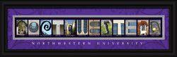 Northwestern Wildcats Letter Art Print