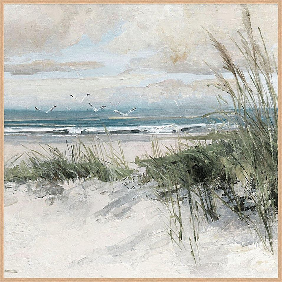 Catching The Wind 36 Inch X 36 Inch Canvas Framed Wall Art Bed Bath Beyond Seascapes Art Watercolor Landscape Paintings Seascape Paintings