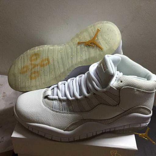 more photos a877e 4e8de Low Price Air Jordan 10 X OVO Summit White Metallic Gold 819955 100 On sale