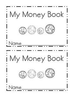 my money mini book identifying coins educational identifying coins teaching money money. Black Bedroom Furniture Sets. Home Design Ideas