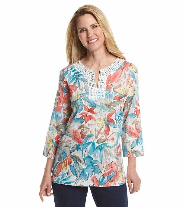 Alfred Dunner Womens Tunic Top Cozumel Tropical Floral sizes 16 18 NEW  16.99 http://www.ebay.com/itm/Alfred-Dunner-Womens-Tunic-Top-Cozumel-Tropical-Floral-sizes-16-18-NEW-/252776636468?var=&hash=item80787485d8