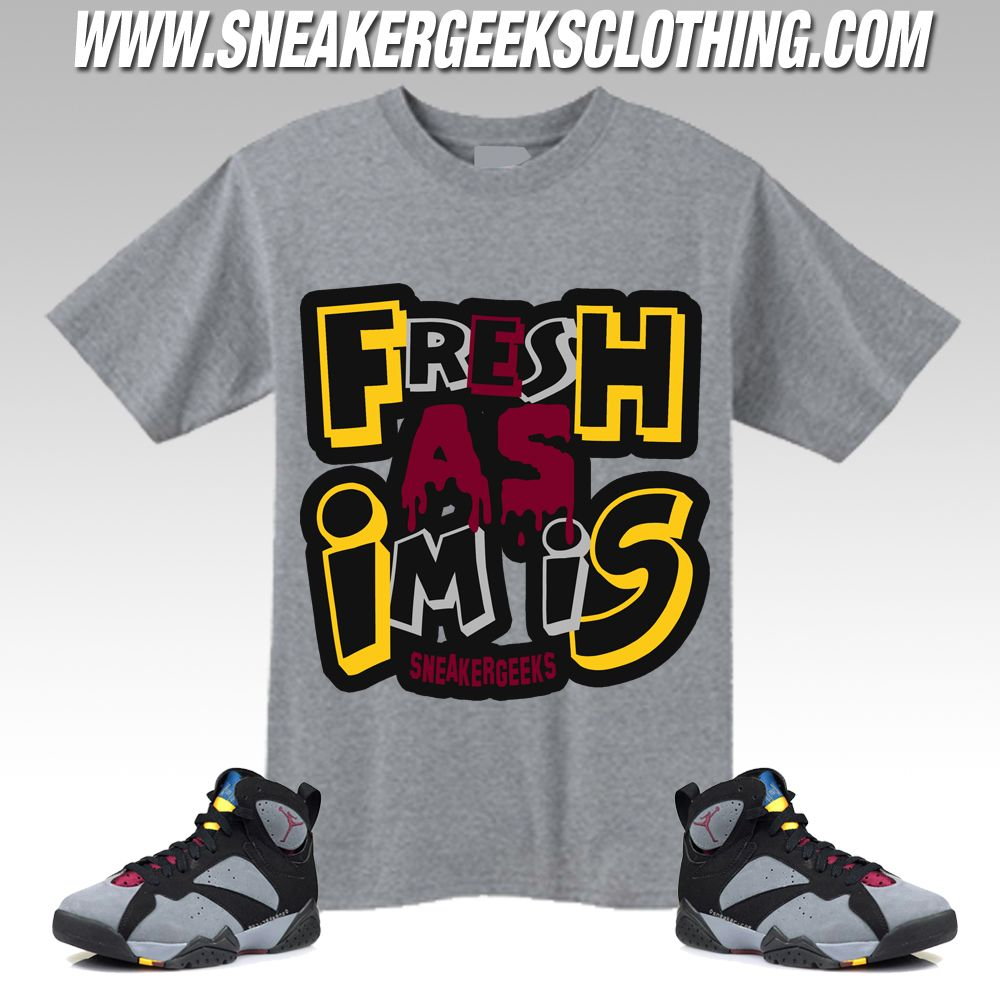 new concept 1d397 8aaa7 Jordan 7 Hare shirts to match
