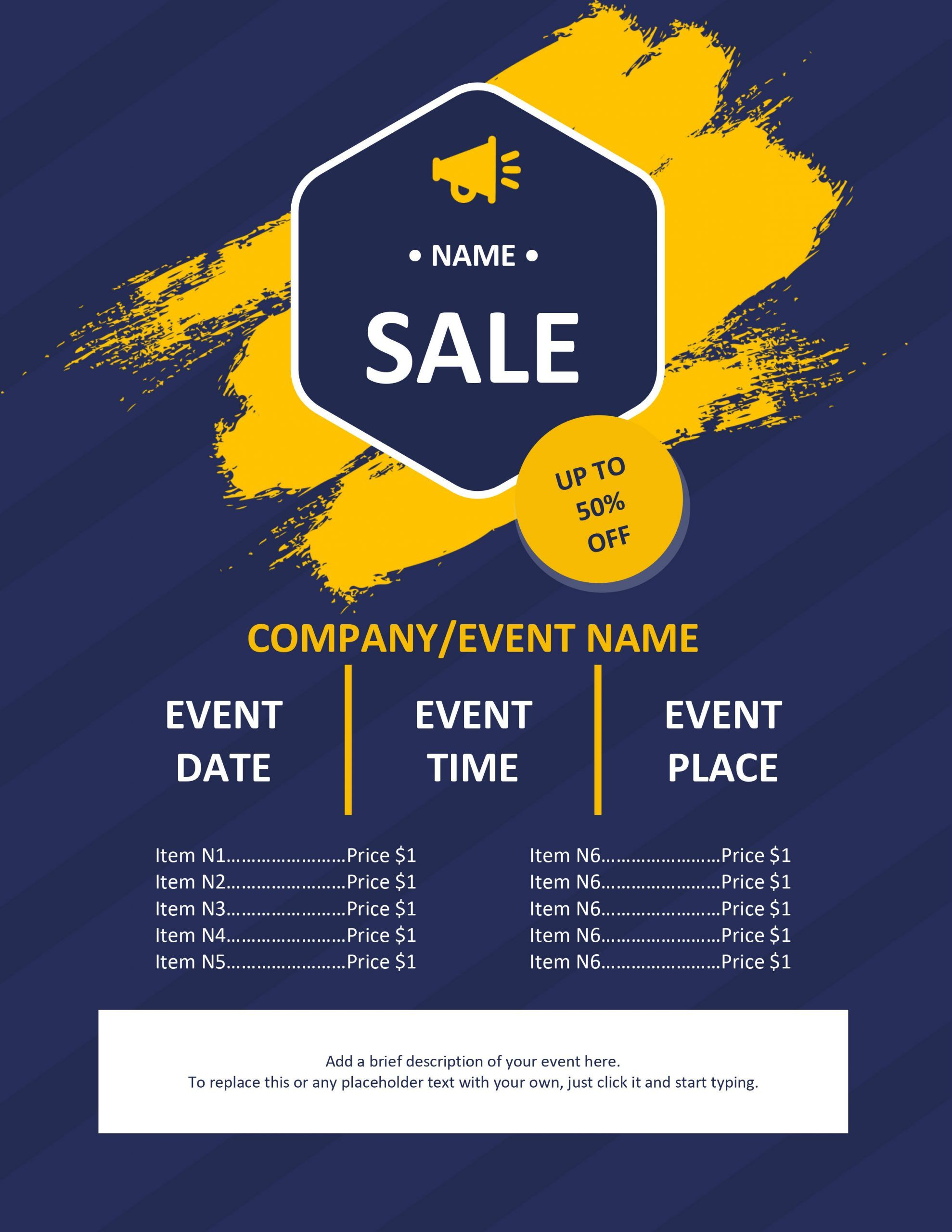 Microsoft Word Flyer Template In 2020 Event Flyer Templates Event Flyer Flyer Microsoft word event flyer template