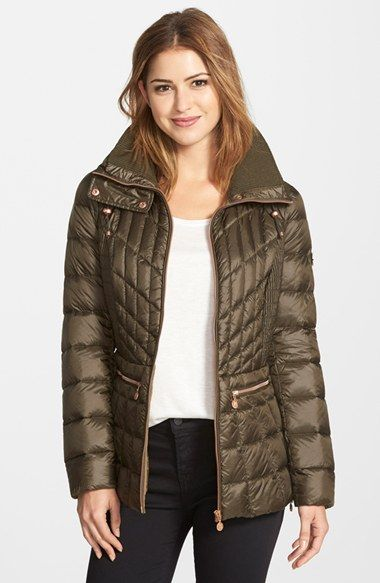 Bernardo Packable Jacket with Down & PrimaLoft® Fill