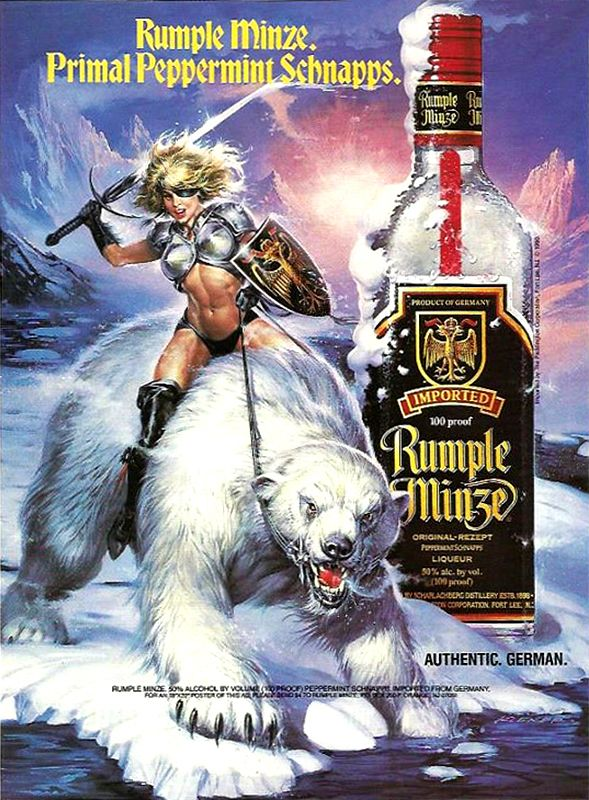 Rumple Minze Poster Advert For Reference Winter Theme