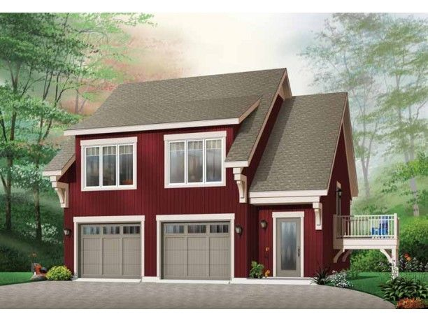 above the garage house plans Garage Plan with a Two Bedroom