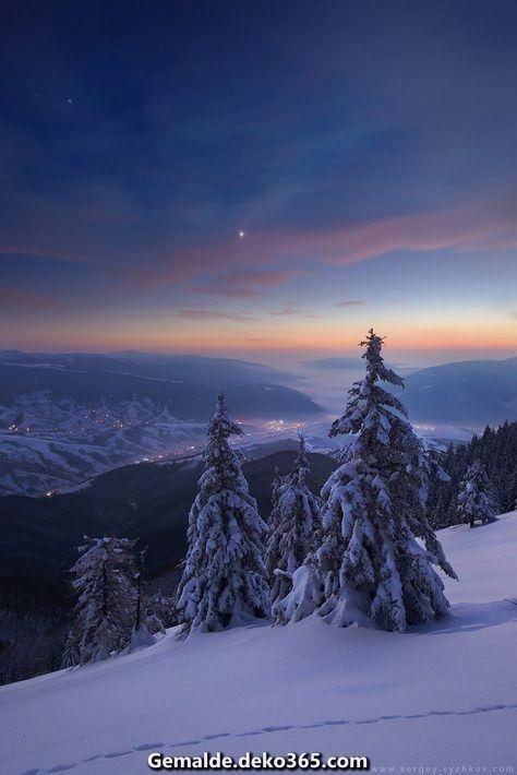 Schöne Abend in den Winterbergen von Sergey-Ryzhkov.de … uff @DeviantArt