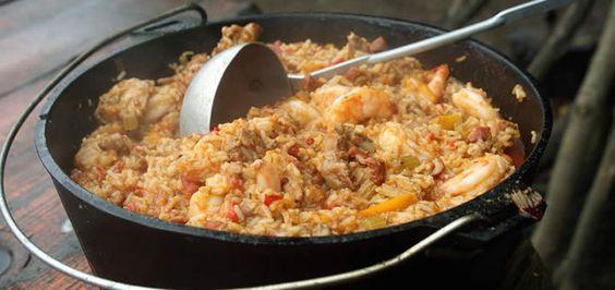Jambalaya aus dem Dutch Oven