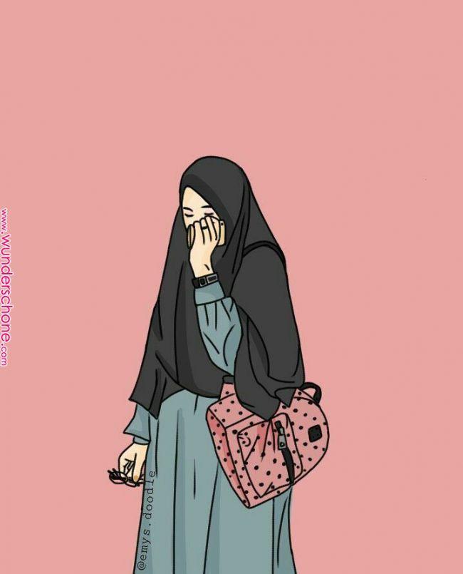 I love hijab . »Hfz« | Hijab cartoon, Islamic cartoon ...