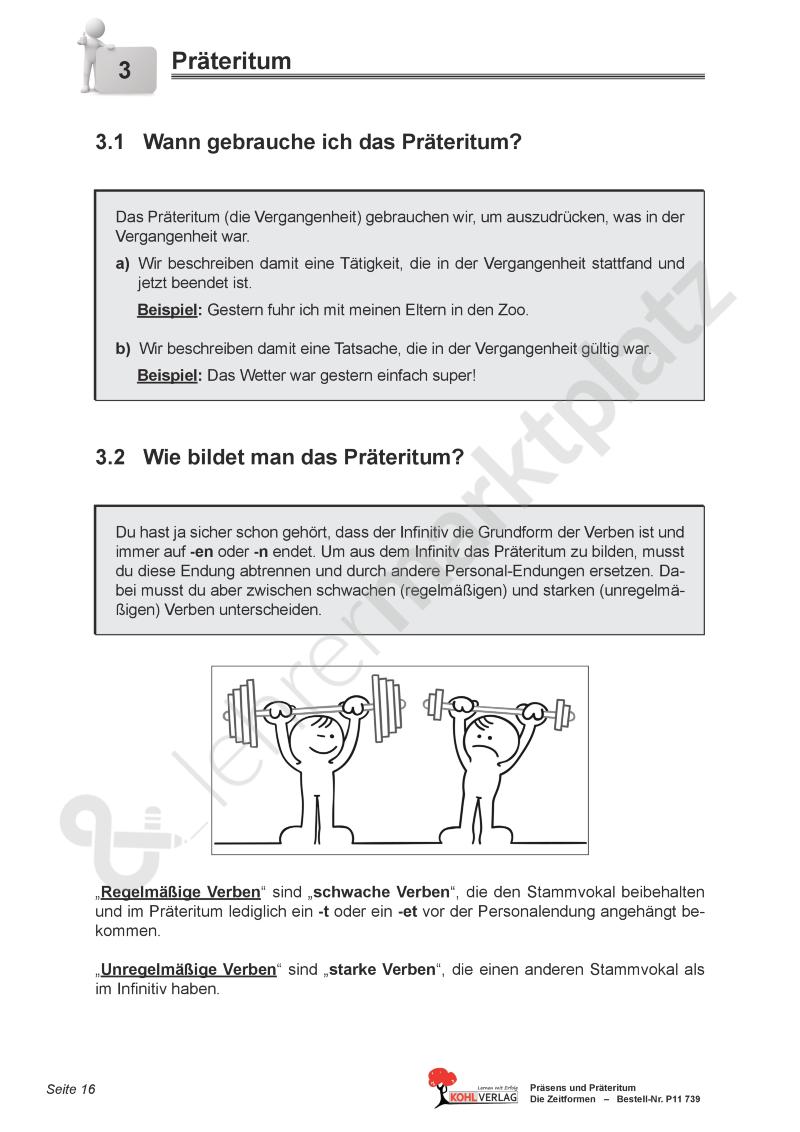 Das Präteritum – Deutsch | Deutsch Unterrichtsmaterialien | Pinterest