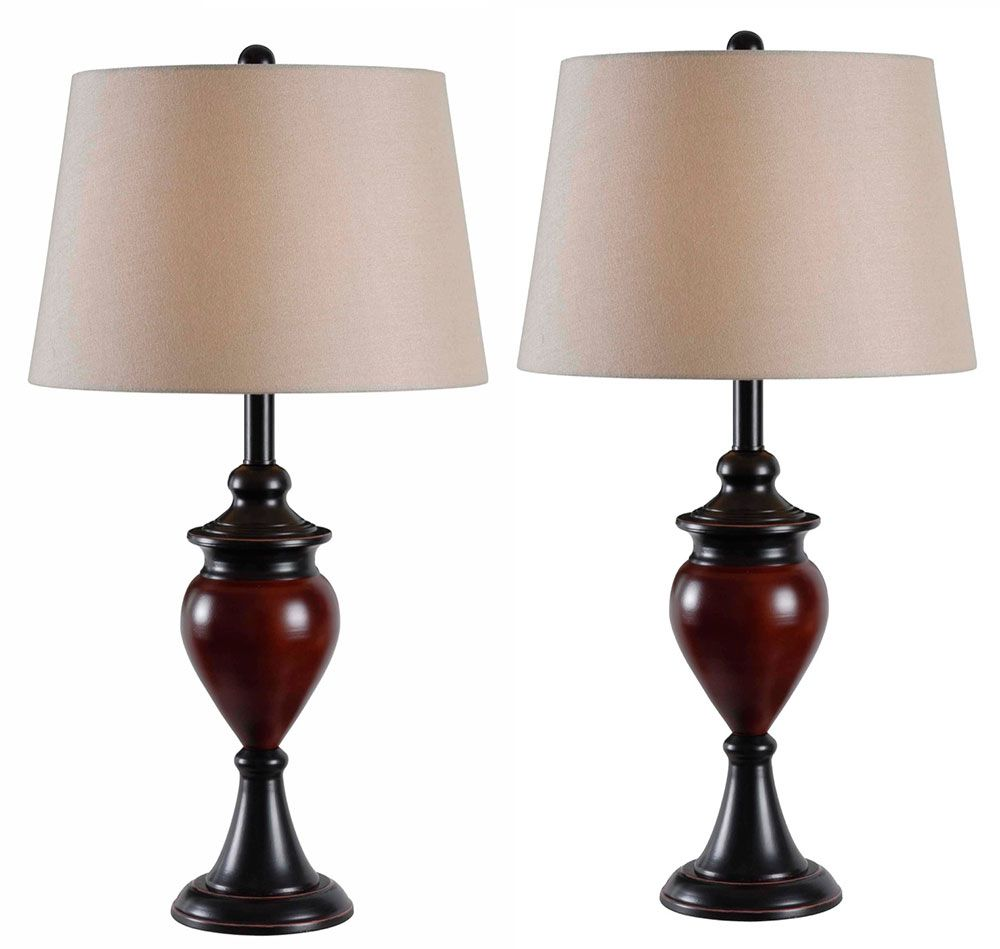 Kenroy Home 32592orbs Elliot Oil Rubbed Bronze Fniish With Sienna Accents 2 Pack Table Lamp Ken 32592orbs Bronze Table Lamp Table Lamp Sets Lamp Oil rubbed bronze table lamps