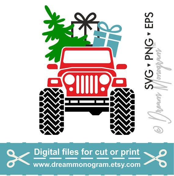 Christmas Jeep Silhouette.Pin On Svg Files