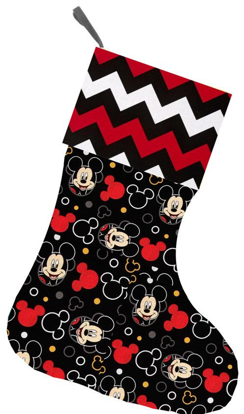 personalized christmas stocking mickey mouse by flashybaby - Mickey Mouse Christmas Stocking